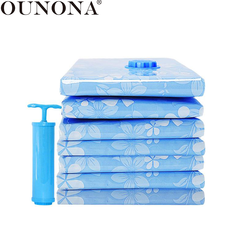 OUNONA 11 Pcs Vacuum Storage Bag Thickened Compressed Bag Space Saver Packing Bag With Hand Pump For Blanket Clothes Quilt