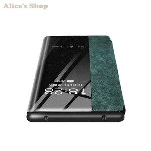 Image 5 - יוקרה מקורי עמיד אמיתי עור מקרה עבור Huawei P30/פרו אופנה תצוגה לתצוגה חכם Flip Case כיסוי עבור Huawei p30 פרו