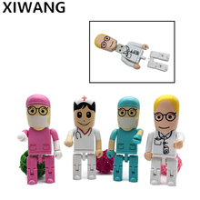 Cartoon Robot Medical usb Flash Drive Doctor USB memory 2.0 4GB 8GB pendrive 16GB pen drive 32GB 64GB 128gb Nurse fashional gift