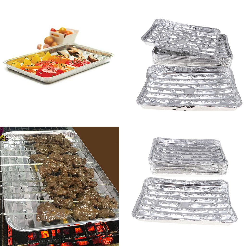Grill Pans Kitchen & Dining 24 pc Set BBQ Foil Grill Sheet