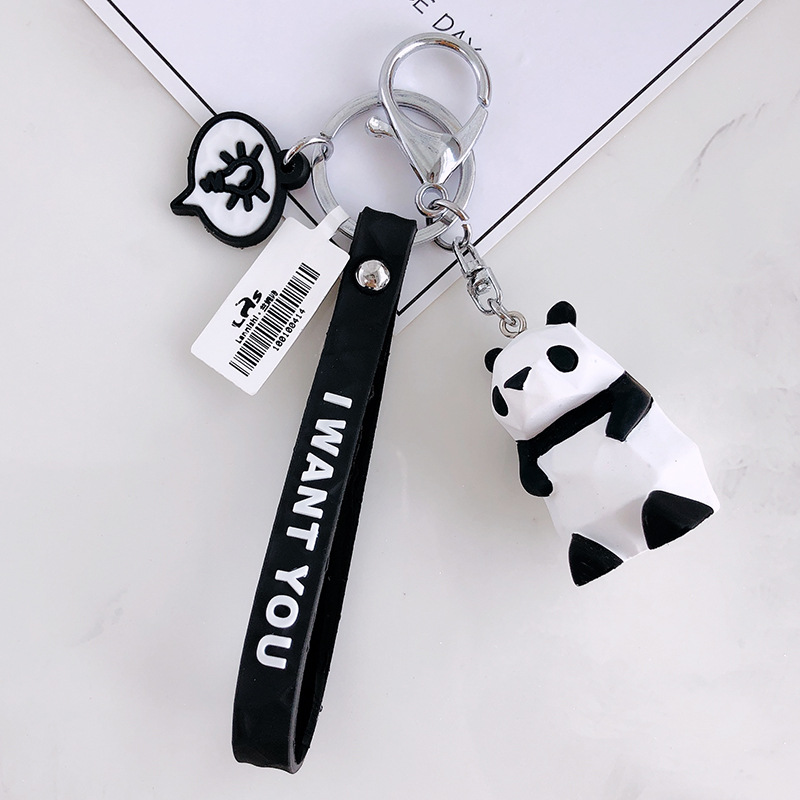 Geometric Aspect Animal Key Chain Auto Hang Men's And Women's Handbags Accessories