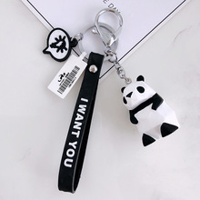 Geometric aspect animal key chain auto hang mens and womens handbags accessories