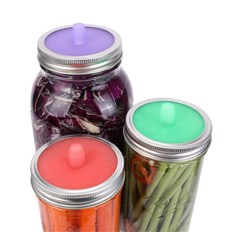Wide Mouth Mason Jar Lids Silicone Pickles Sealing Cover Ferment Bottle Cap