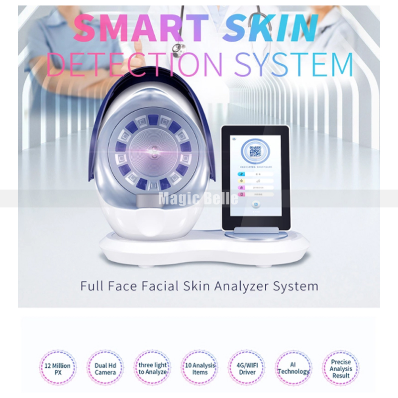 Newest 3D Portable Facial Skin Analyze Care Machine For Clinc Use
