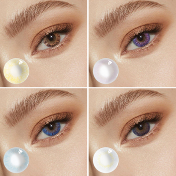 Beautiful Pupil Color Contact Lens Monthly Female Path 14.0-5mm Cute Multicolor Party Cartoon Girl Decoration Student Cosplay image