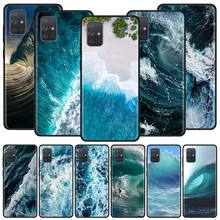 Waves Ocean Water Case For Samsung Galaxy A51 A71 M31 A41 A31 A11 A01 M51 M21 M11 M40 Black Soft Phone Cover Fundas waves ocean water case for samsung galaxy a51 a71 m31 a41 a31 a11 a01 m51 m21 m11 m40 black soft phone cover fundas