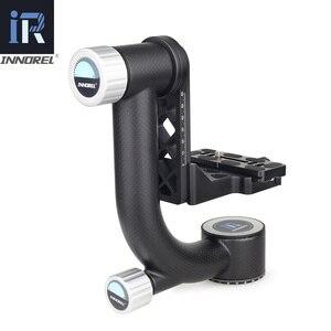 Image 3 - Innorel ch5 cabeça cardan profissional cabeça do tripé cantilever 360 graus de alta cobertura panorâmica para a lente da câmera digital pesada