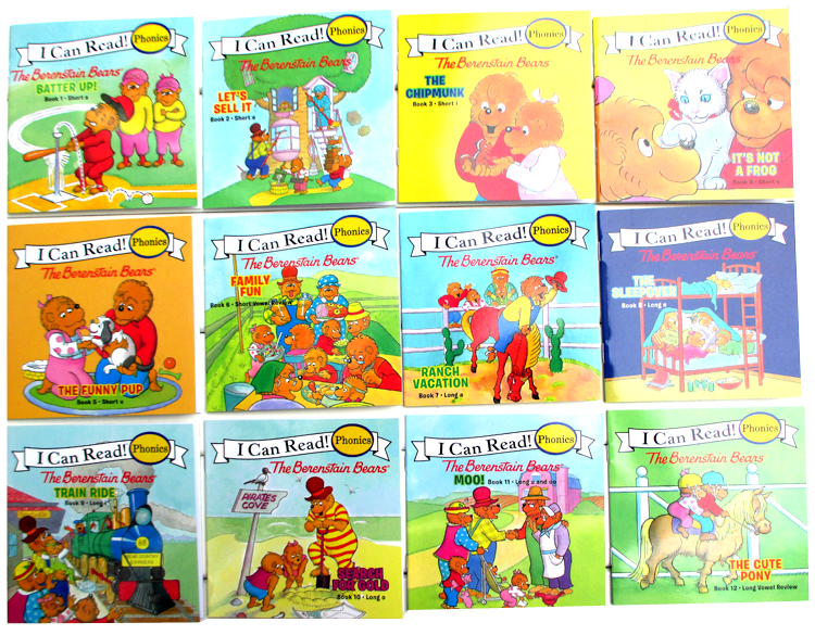 12 Books/set I Can Read Phonics Books My Very First Berenstain Bears English Picture Story Pocket Book For Children