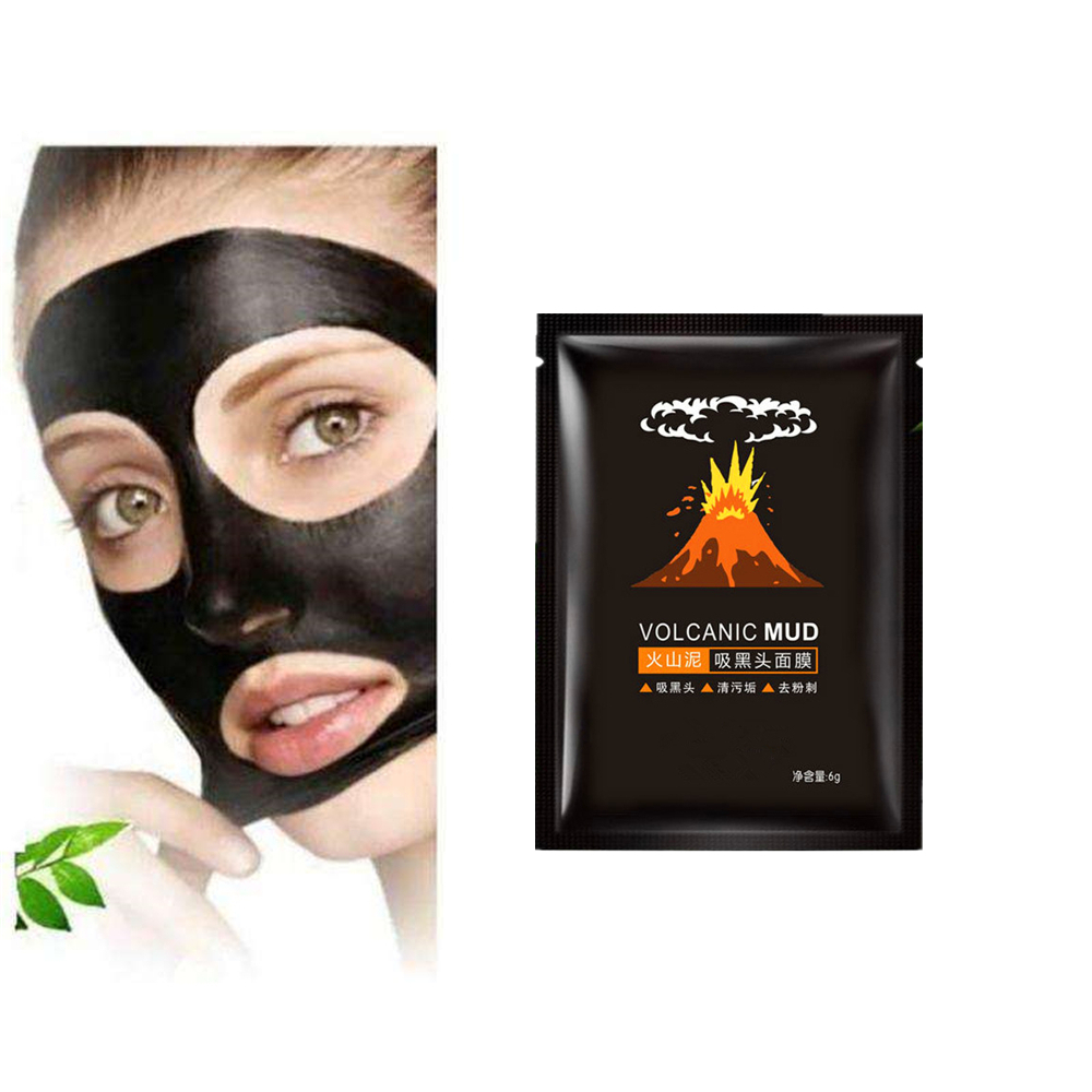 Nose Mask Remove Blackheads Face Pack Volcanic Mud Blackhead Remover Gel Oil Control Skin Care Whitening Strips Moisturizing