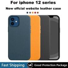 Oficjalne oryginalne skórzane etui do iPhone 12 Pro Max 12 Mini luksusowe wsparcie bezprzewodowe ładowanie magnetyczne pokrywa dla iPhone 11 Pro Max