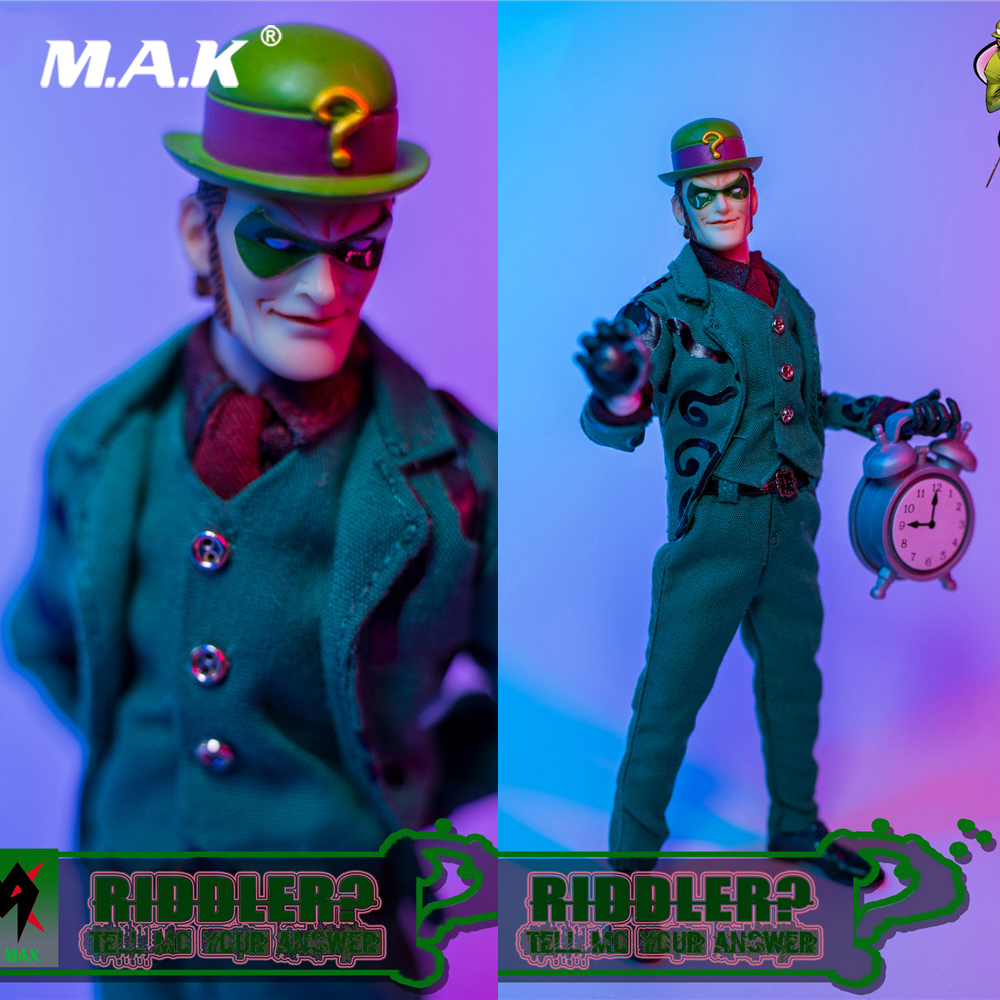 MX1903 1/12 Scale Male Figure Clothes Suit Question Marker Clothes & Head Accessories Model for 6 inches Action Figure Body