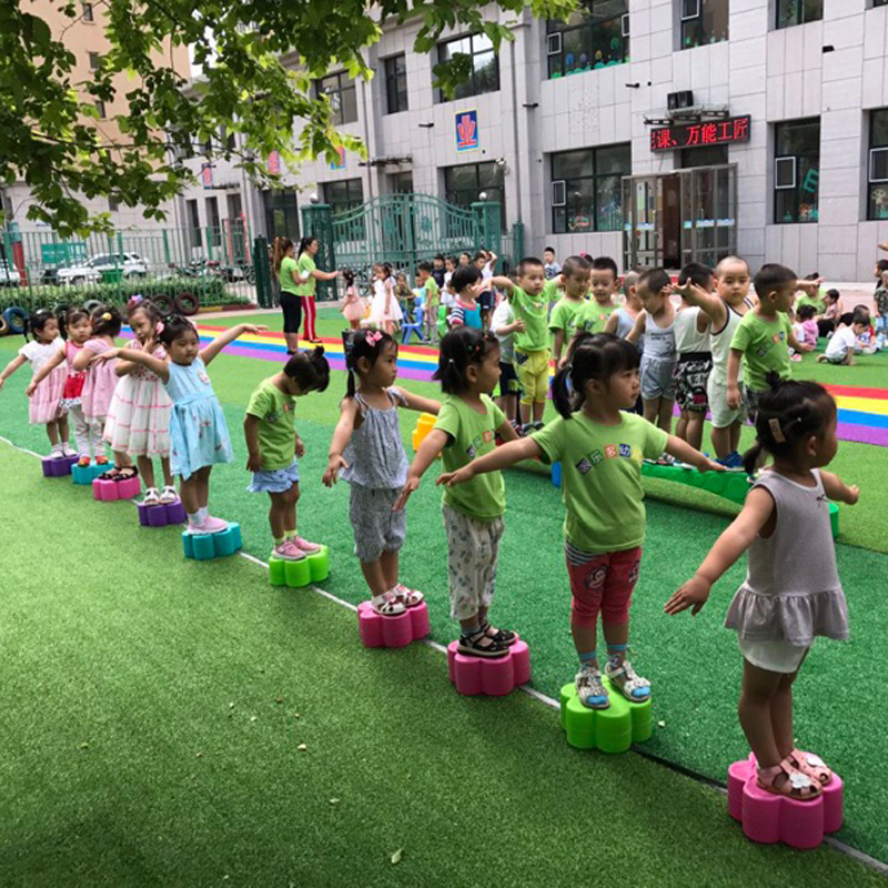 River Stepping Stones Kids Balance Game Sensory Integration Outdoor Toys Kindergarten Children Activity
