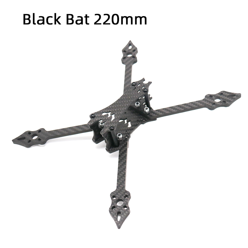 TCMMRC 5 Inch Drone Frame Black Bat 220 Fpv Frame 5mm Arm Carbon Fiber For FPV Racing Drone Frame Kit