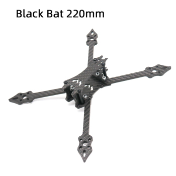 TCMMRC 5 inch Drone Frame Black Bat 220 fpv frame 5mm Arm Carbon Fiber for FPV Racing Drone Frame Kit zmr 200 through four axis quadcopter frame 200 all metal head one carbon fiber plate 4mm lightweight racing for uav fpv flysky