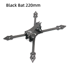TCMMRC marco para Dron de 5 pulgadas, fibra de carbono con brazo de 5mm, murciélago negro, 220 fpv, para Dron de carreras con visión en primera persona