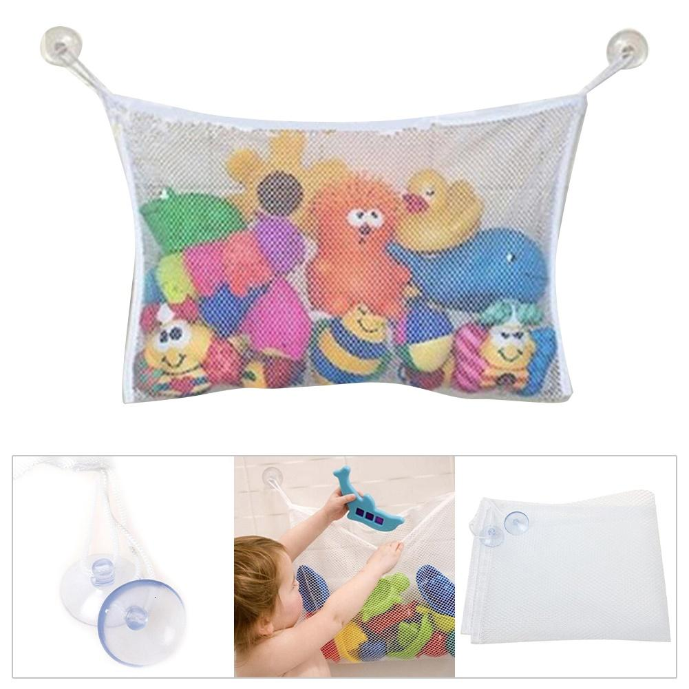 Bathroom Hanging Mesh Storage Bag Baby Kids Bathing Toys Organizer Pouch Basket