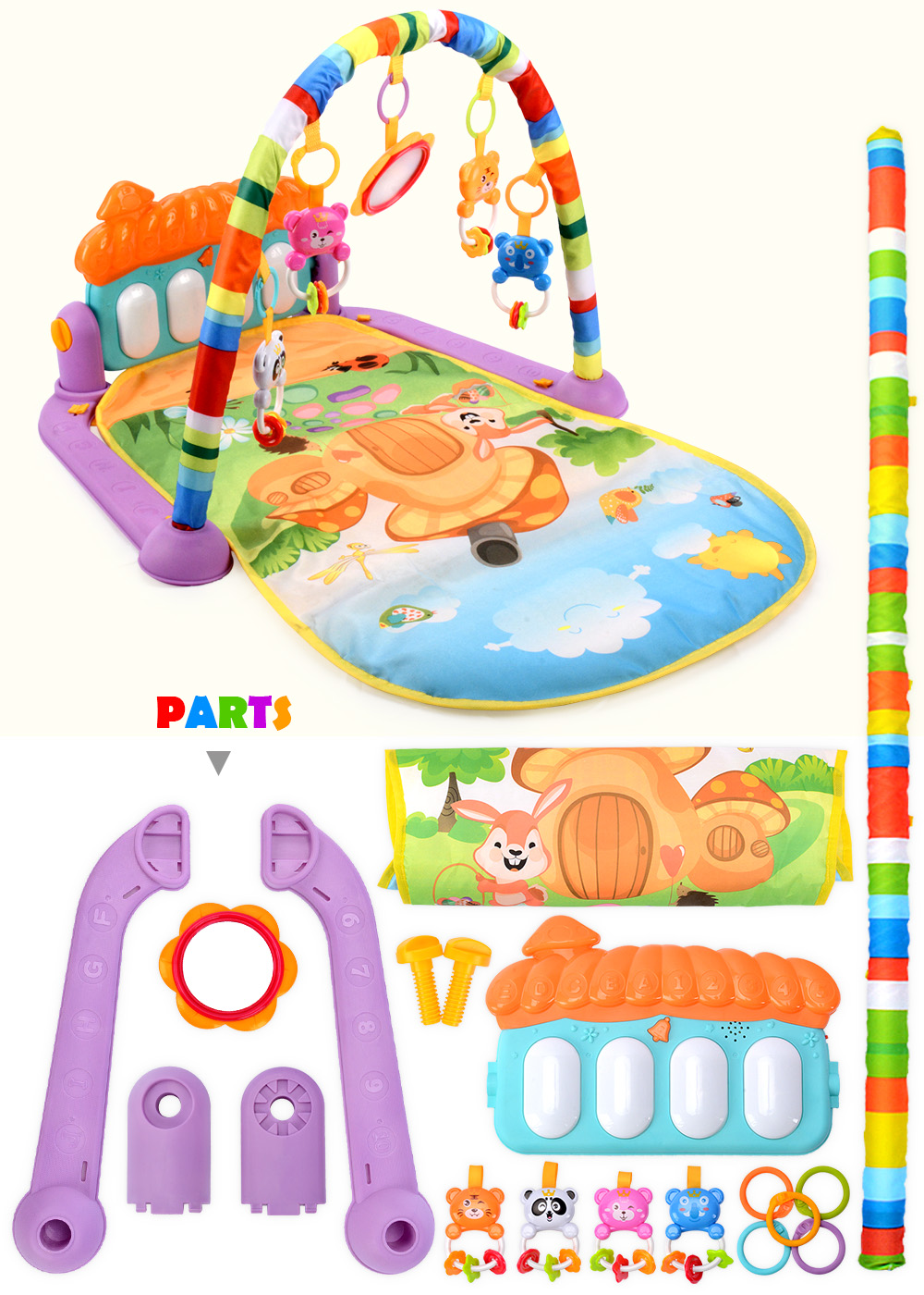 Ha770b4ea36804a49968f339ff3998266p 16 Styles Baby Music Rack Play Mat Kid Rug Puzzle Carpet Piano Keyboard Infant Playmat Early Education Gym Crawling Game Pad Toy