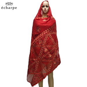 Image 4 - New fashion design Muslim headscarves and long scarf type geometrical design scarf made of pure cotton and comfortable EC108