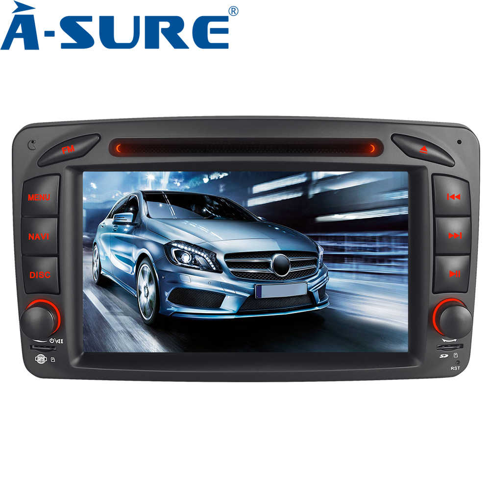 A-Sure 2 DIN Car Multimedia Radio For Mercedes-Benz C/CLK Class W203 W209 Viano Vito Bluetooth RDS DAB GPS DVD Player Navigation