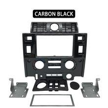 Kit de peças para interior automotivo, kit com duas fascia para land rover, defender, brilhante, preto, fosco, de carbono