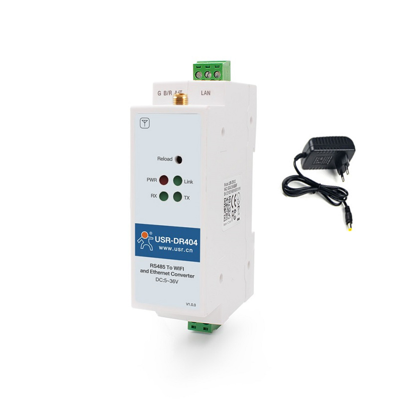 Rail-type Din-rail Wifi Serial Server Wireless Rs485 To Ethernet Industrial Serial Module USR-DR404