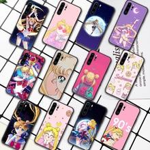 Sailor Moon Anime Phone Case For Huawei P Mate 10 20 30 40 Pro Lite Smart 2019 2021 black Waterproof Luxury Etui Trend Back