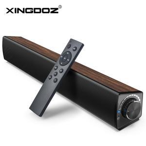 Image 1 - טלוויזיה קול בר, 20W 2.1 Soundbar, Wired & Wireless Bluetooth 5.0 רמקול, 17 אינץ, RCA/Aux/USB, סראונד עבור קולנוע ביתי