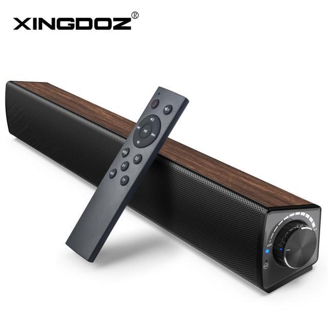 TV Sound Bar , 20W 2.1 Soundbar, Wired & Wireless Bluetooth 5.0 ลำโพง,17 นิ้ว,RCA/AUX/USB,เสียงรอบทิศทางสำหรับโฮมเธียเตอร์