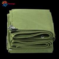 Tewango-Lona verde militar, tela resistente de 550GSM con protección antiUV y 100% impermeable, para refugio o como cubierta de carga de camiones