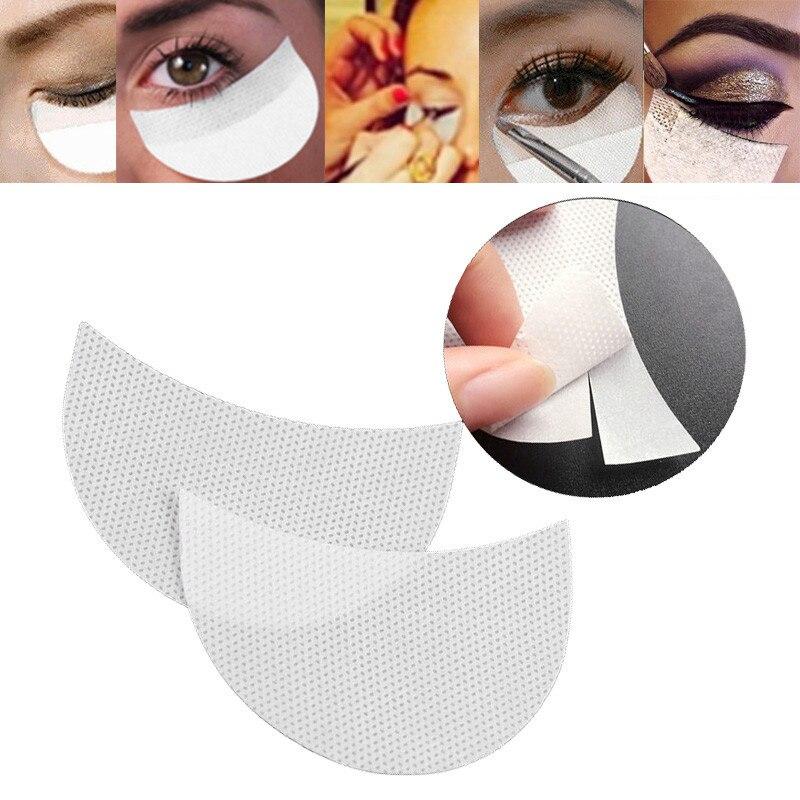 50pcs/lot Disposable White Eyeshadow Stickers Multifunction Stereotypes Eye Shadow Shield Eyelashes Grafting Isolation Stickers