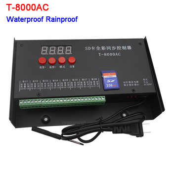 LED controller T-8000AC SD Card Controller for WS2801 WS2811 LPD8806 8192 Pixels waterproof Rainproof controller AC110-240V