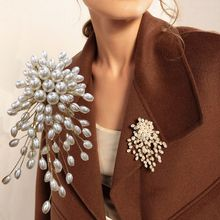 MENGJIQIAO – broche en perles et fleurs pour femmes et filles, Badge coréen élégant et exagéré, pour vêtements de mode, décoration, bijoux, cadeaux