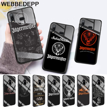 Jagermeister logo Glass Case for Samsung S7 Edge S8 S9 S10 Plus A10 A20 A30 A40 A50 A60 A70 Note 8 9 10 стоимость