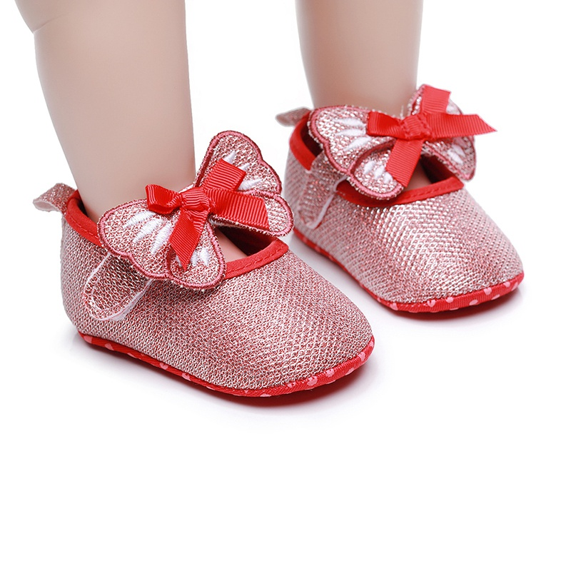 Baby Shoes Solid Anti-slip Infant Newborn Girls Boys Solid Princess Shoe Breath Comfort First Walkers Shoes Children Shoes