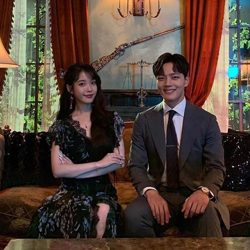 Koreaanse Drama Hotel Del Luna Zwarte Kanten Jurk Zomer 장만월 Ie Sexy Lange Jurken Voor Vrouwen Vestido Bloemen Ruches Jurk party YQ405