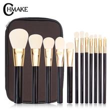 CHMAKE 12PCS Eyeshadow Makeup Brushes Set pincel maquiagem Pro Rose Gold Eye Shadow Blending Make Up Brushes Bag недорого