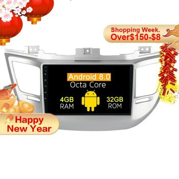 2 din Android 8.0 Car multimedia player Radio head unit For Hyundai Tucson 2014 2015 2016 2017 gps navigation Stereo no dvd 4+32 image