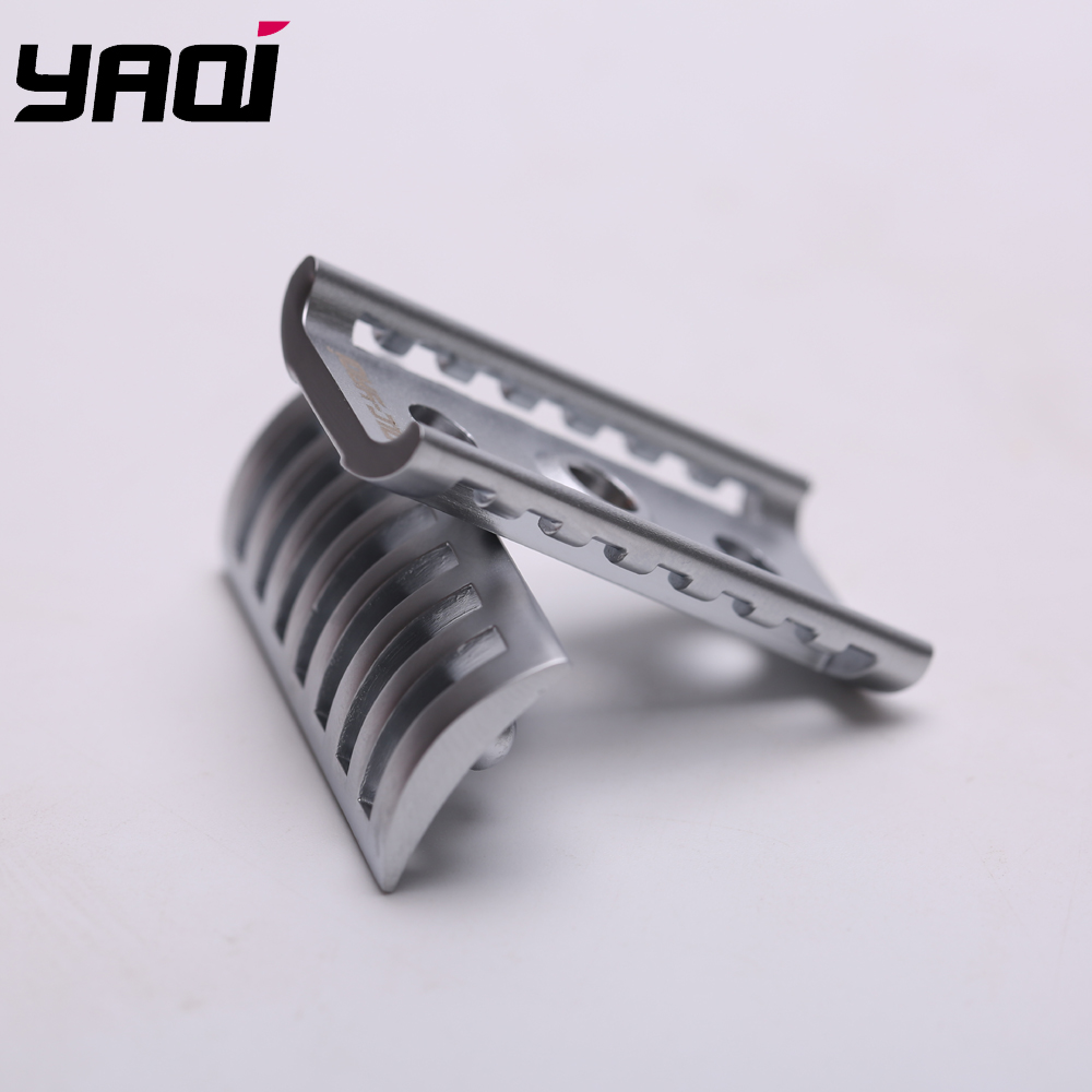 Yaqi Matte Chrome Color KNIGHT-HELMET Safety Razor Head  For Shaving Razors