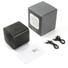 Деревянный динамик FM Радио MP3 плеер Aux портативный беспроводной 1200 мАч перезаряжаемый аккумулятор для смартфона планшета компьютера