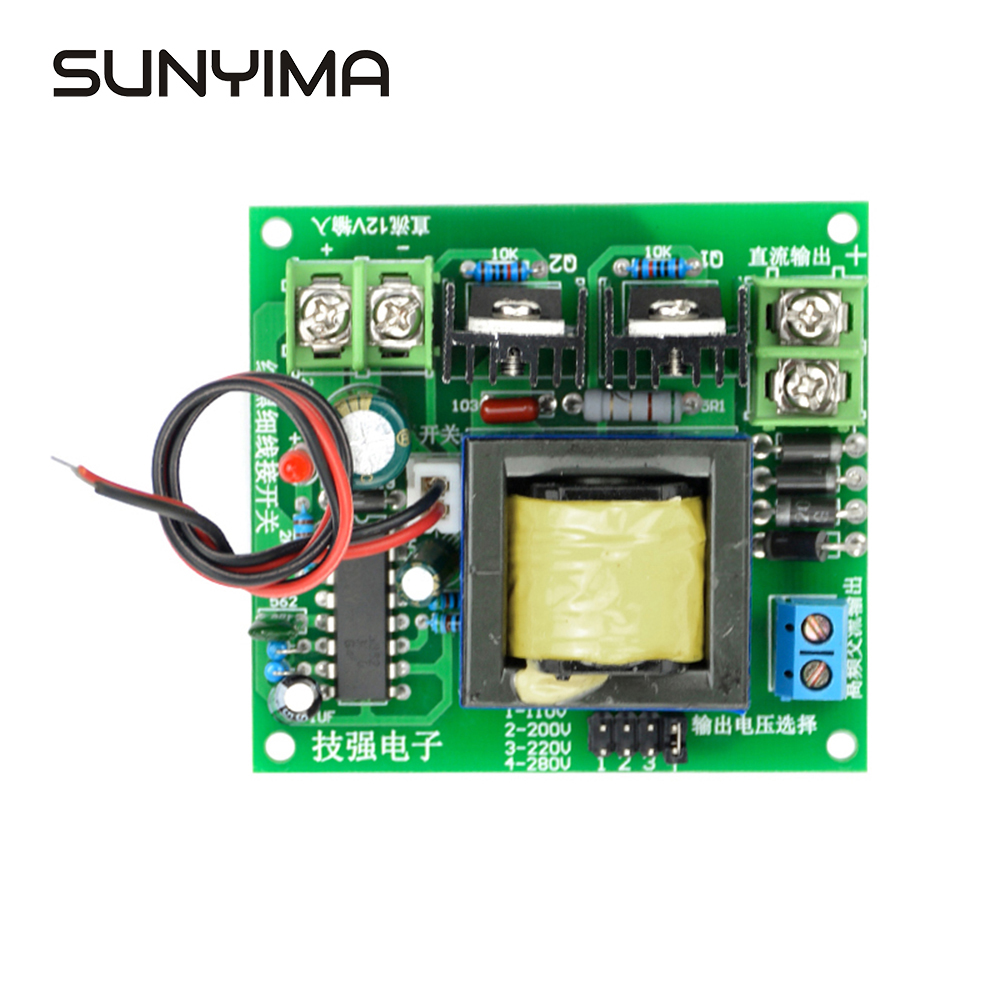 SUNYIMA DC-AC Konverter 12V zu 110V 200V 220V 280V AC 150W Inverter Boost Board transformator Power