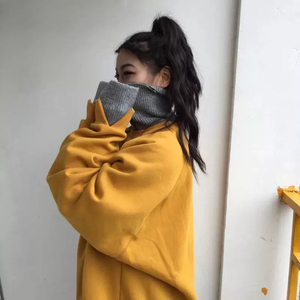 Image 5 - Hoodies ผู้หญิงหนา Plus กำมะหยี่ยาวแขนเสื้อคอเต่าหลวมสตรี Hoodie นักเรียน All Match Harajuku อินเทรนด์ CHIC