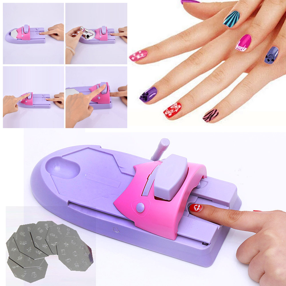 Machine Nail-Stamper-Set Stamping-Tool Nail-Polish-Decoration-Printer Portable DIY Art title=