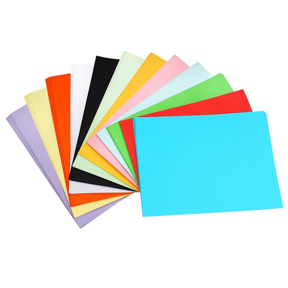 A4 100pcs Coloured Printer Paper Handwork Scrapbooking Office Supplies Cardstock School 160gsm Premium Universal