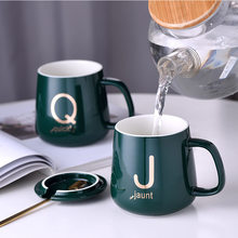 Letter Ceramic Cup Milk Warmer with Lid Spoon Mug Mug Gift Coffee Mug Coffee Cup Cups Coffee Mug Mugs Coffee Cups