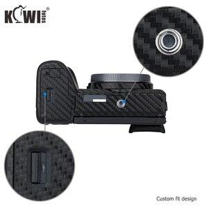 Image 4 - KIWIFOTOS anti rayures caméra corps couverture en Fiber de carbone Film Kit peau pour Sony A6600 3M autocollant avec Film de rechange caméras Protection
