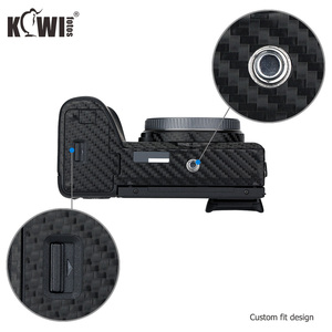 Image 4 - KIWIFOTOS المضادة للخدش كاميرا الجسم غطاء شريط الياف الكربون عدة الجلد لسوني A6600 3M ملصقا مع الغيار فيلم كاميرات حماية