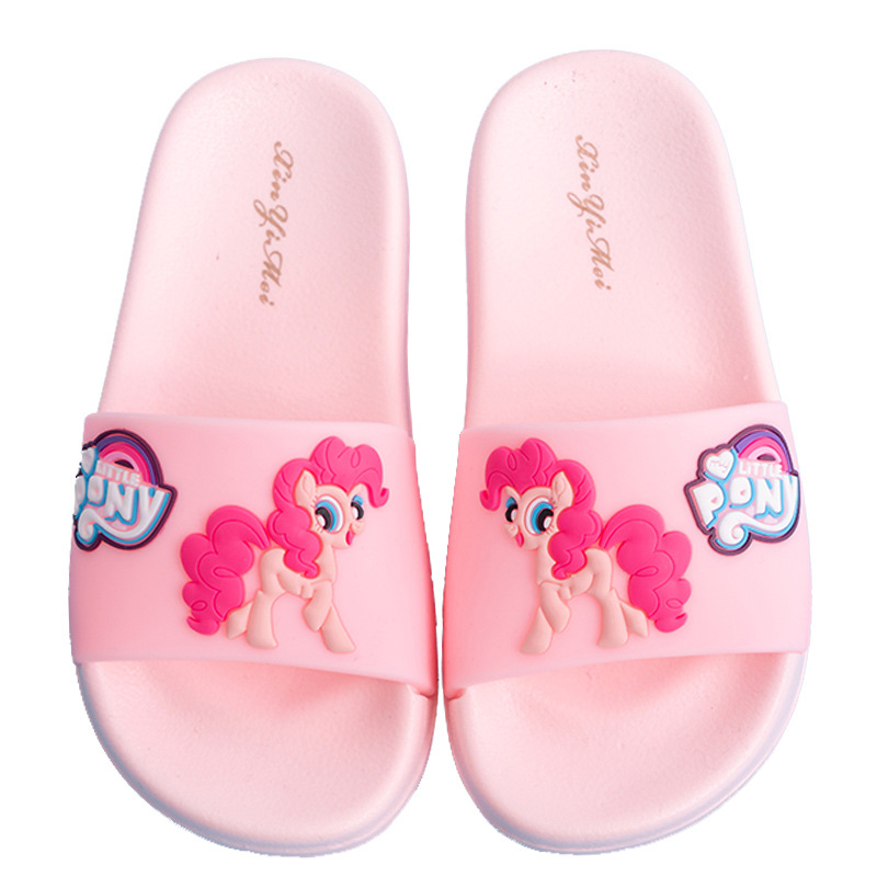 Unicorn Slippers For Boys Girls Rainbow Shoes 2019 Summer Toddler Animal Kids Indoor Baby Slippers PVC Cartoon Kids Slippers