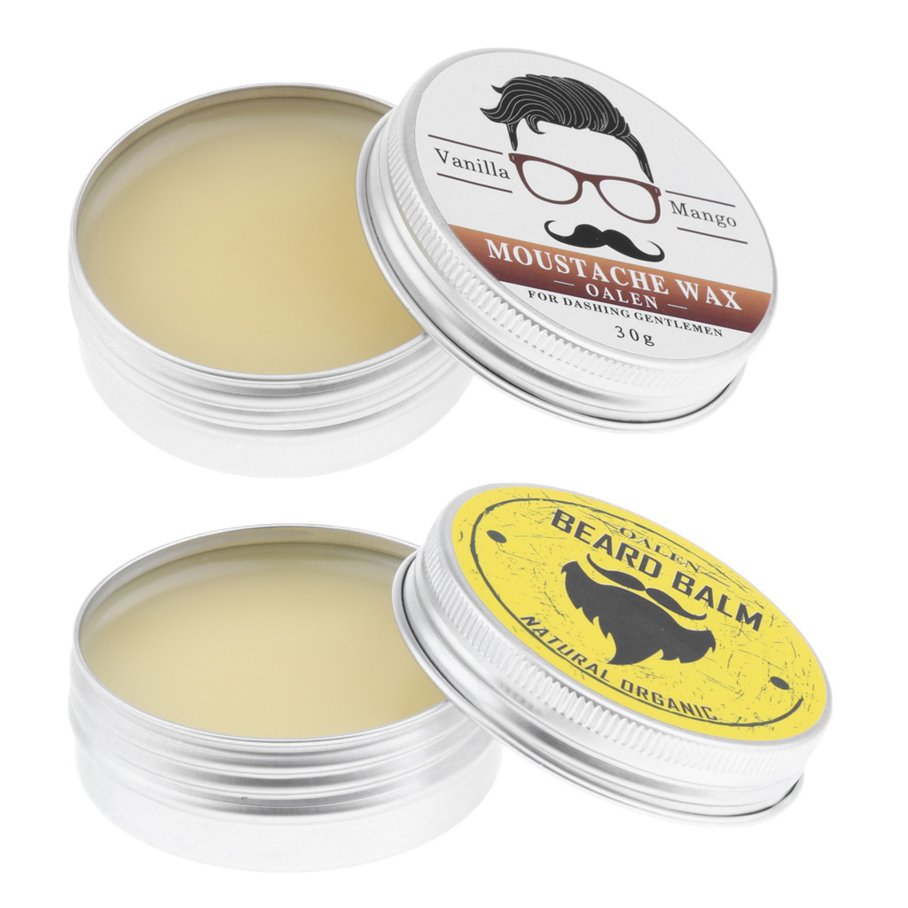 30g Men Beard Wax For Styling Beeswax Moisturizing Smoothing Gentlemen Beard Care Hair Loss Products