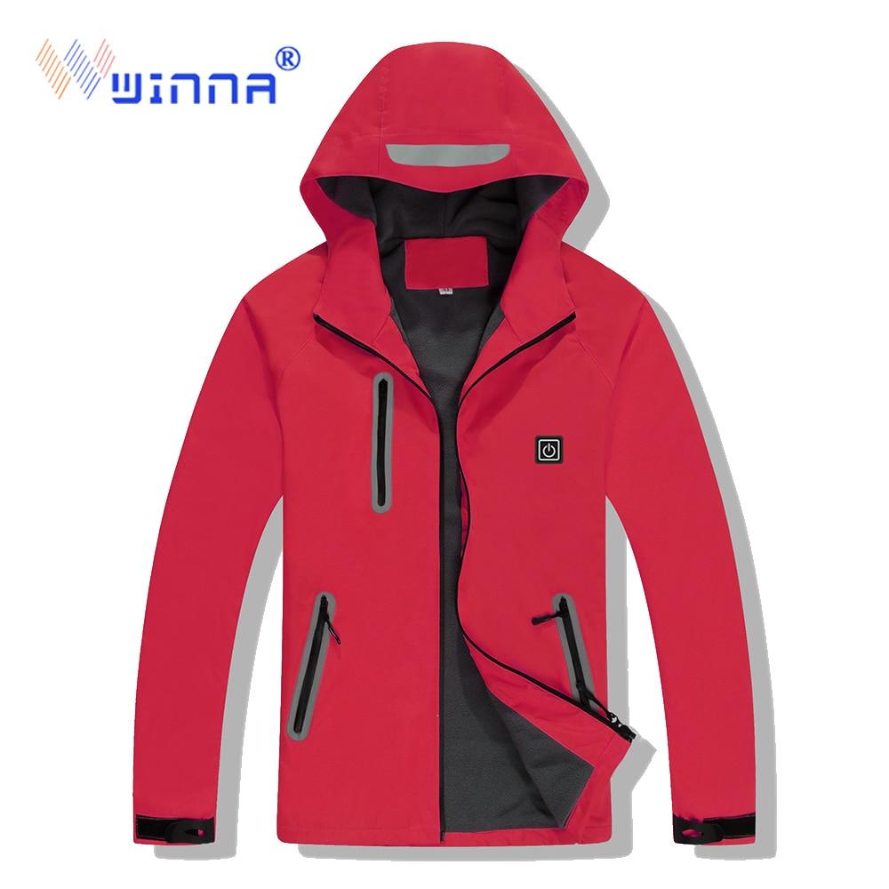 Outdoor Heated jacket Waterproof Windproof Sportswear Men and Women Winter Heating Jacket For Hiking Cycling Climbing Riding