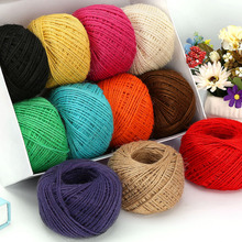 50M Natural Burlap Hessian Jute Twine Cord Hemp Rope String Gift Packing Strings Christmas Event & Party Supplies diy 2mm Round